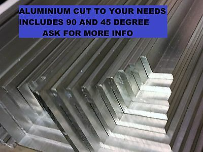 Aluminium profile angle 10 15 20 25 30 35 40 45 50 60 75 mm varies 25mm to 2mtrs