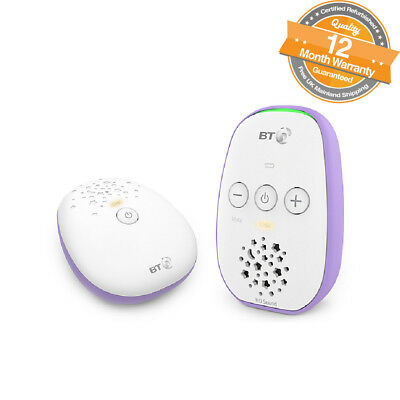 BT 087429 Digital Audio Baby Monitor 400 up to 300m Range Outdoor in White