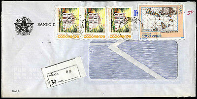 Cape Verde Islands Registered Commercial Cover #C39330