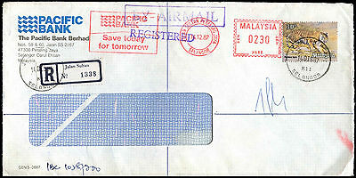 Malaysia 1987 Registered Commercial Cover #C39349