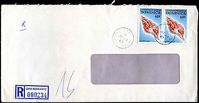 Dominica 1987 Registered Commercial Cover #C39356