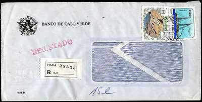 Cape Verde Islands Registered Commercial Cover #C39340