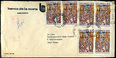 Colombia 1974 Airmail Commercial Cover To Austria #C39302