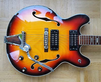 "Aria ""Diamond"" 5102T Thinline ES-style E-Gitarre - 1960s vintage made in Japan"