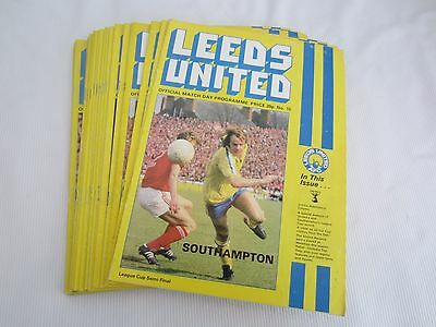 1978-79 Div 1 Leeds United Batch Of 24 Home Inc 3 Lc Programmes