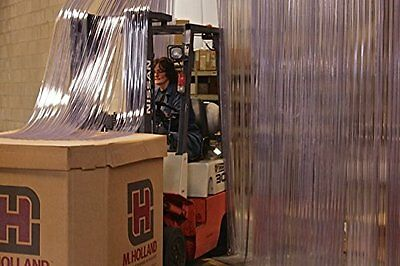 """150' Roll - 8"""" Wide Ribbed PVC Plastic Strip Curtain"""