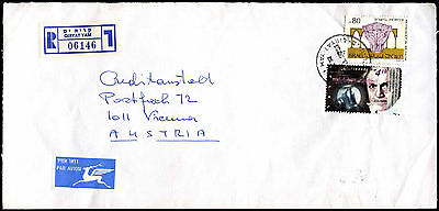 Israel Registered Commercial Cover To Austria #C39269