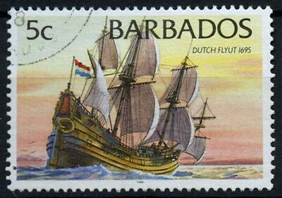 Barbados 1994-98 SG#1029B 5c Ships Definitive With 1998 Imprint Date Used#D43144