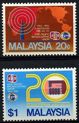 Malaysia 1984 SG#295-6 Asia-Pacific Broadcasting Union MH Set #D42885