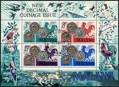 Malawi 1971 SG#MS374 Decimal Coinage Used M/S #D42664