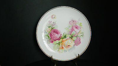 Goodwin Pottery Antique Semi Porcelain Advertising/Collector Plate/ Rebman