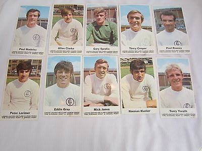 1970's YORKSHIRE EVENING POST SET OF 10 LEEDS UNITED PICTURE CARDS