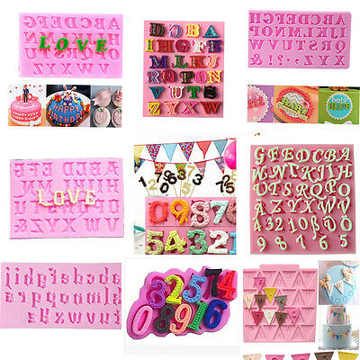 Alphabet Letter Number Cake Fondant Decor Biscuit Cookie Cutter Birthday Mold
