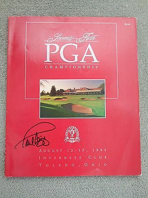 1993 USPGA Championship programme signed by winner Paul Azinger