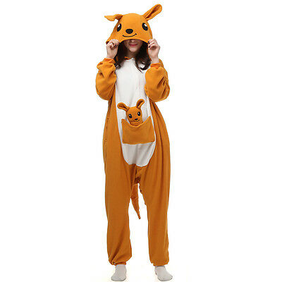 Kangaroo Unisex Adult Pajamas Kigurumi Cosplay Costume Animal Onesie Sleepwear