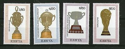 Kenya Football World Cup Italy 1990 Set Of All 4 Commemorative Stamps Mnh