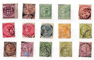Jamaica QV Collection of 15 Mint/Fine Used X5531