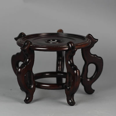 Antique 19/20C Wooden Chinese Porcelain Stand for bowls Nice piece Rosewood?