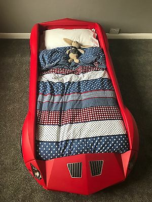 Nearly New Children's Car Bed, All Working Lights, Comes With Mattress