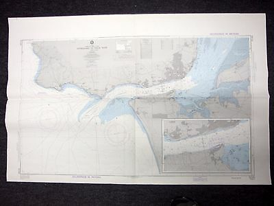 1978 Defense Mapping Agency Nautical Chart Approaches to Tagus River 51141 20th