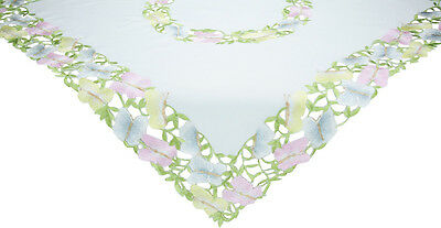 Xia Home Fashions Butterfly Minuet Embroidered Cutwork Table Topper