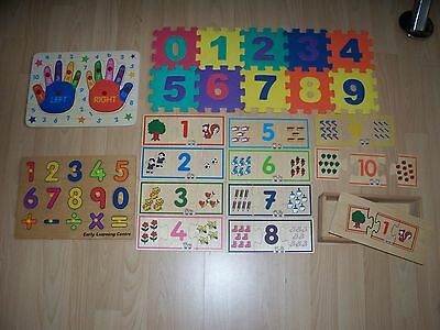 Peg Puzzle, Foam Number Puzzle, Wooden Hand Numbers and Wooden Number Puzzles