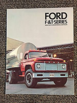 1969 Ford Trucks F T truck Brochure and 1968 Dealer Mack and Ford comparison