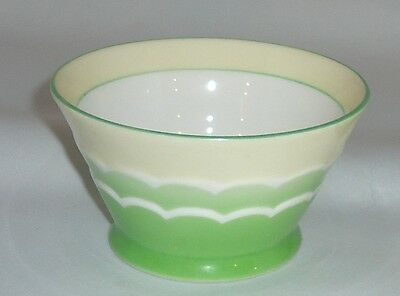 Noritake Hand Painted Open Sugar Bowl Green White & Yellow