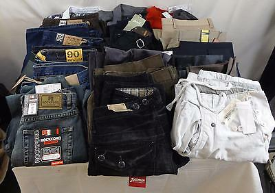 Job Lot of Men's Jeans Trousers Shirts Jumpers 21 Items All New with Tags