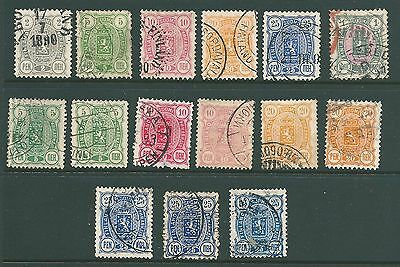 FINLAND - 1889 used collection for study & postmarks