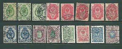 FINLAND - 1901-11 'Russian' type used collection for study & postmarks