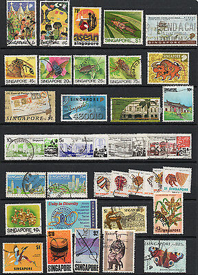 Singapore Stamp Collection X 35 Used