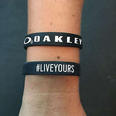 OAKLEY #LiveYours Collectors Rubber Wristband Bracelet Black & White