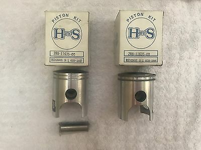 New Old Stock Aftermarket H And S Part Piston Kits 0.25 Oversize Yamaha Rd250E