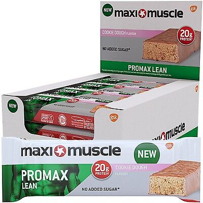 Maximuscle Promax Lean High Protein Bar 60 g - Cookie Dough Pack of 12