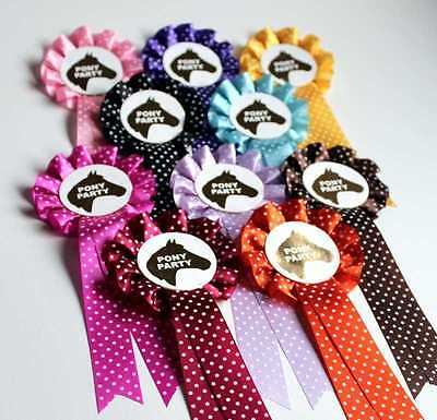 Pony Party Rosette Micro Dots Mixed Colours X 10