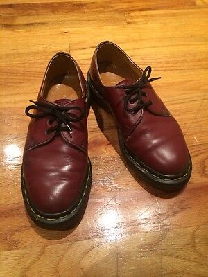 Dr. Martin Leather Shoe Boots Made In England Size 3 Kid