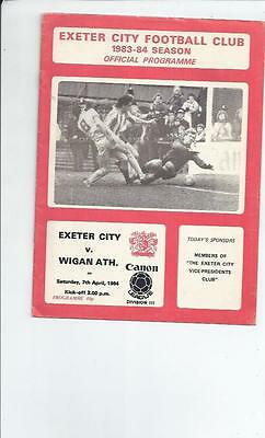 Exeter City v Wigan Athletic Football Programme 1983/84