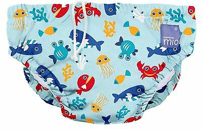 Bambino Mio Reusable Swim Nappy  Deep Sea Blue Medium (6-12 Months)