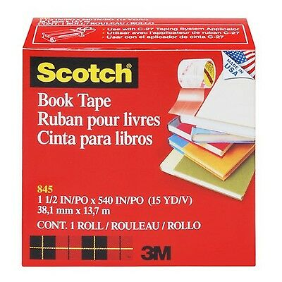Scotch Book Repair Tape - Clear - 1 Roll - 38.1 mm x 13.7 m