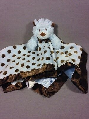 Mary Meyer Baby Blue & Brown Soft Plush Bear Lovey Security Blanket