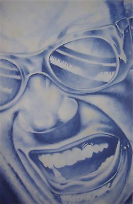 ORIGINAL  PAINTING OF RAY CHARLES SIGNED BY ARTIST 24 x 36 inches READY TO HANG
