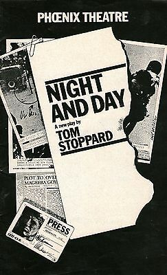 Theatre Programme – Phoenix Theatre Night & Day – Tom Stoppard (1978)