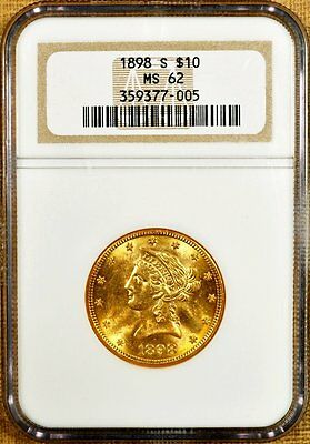 1898-S NGC MS62 $10 Liberty Gold Eagle - Better Date