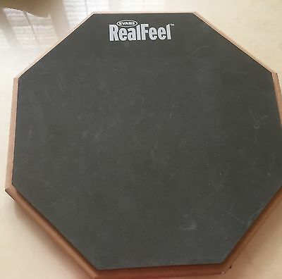 "Evans Real Feel 12"" Single Sided Drum Practice Pad (RF12G)"