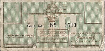 Netherlands WW2 Money used by Jews in Westerbork Transit Camp.n1