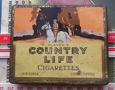 Players Countrylife Cigarette Tin for 20 scarcer variety