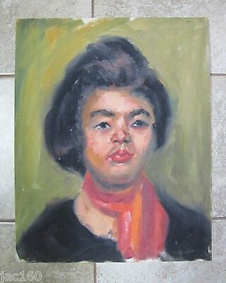 Vintage Oil Painting GOSTON? PORTRAIT OF A WOMAN 3 on Board