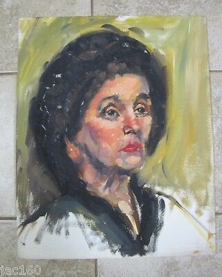 Vintage Oil Painting GOSTON? PORTRAIT OF A WOMAN 1 on Board