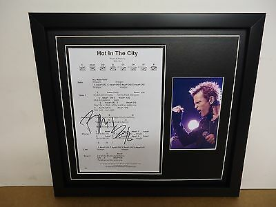 Billy Idol Hand Signed/Autographed Songsheet with a Photograph and COA